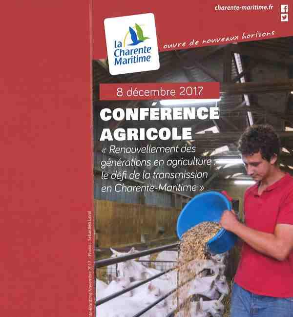 Conférence Agricole 8 Décembre 2017   La Rochelle