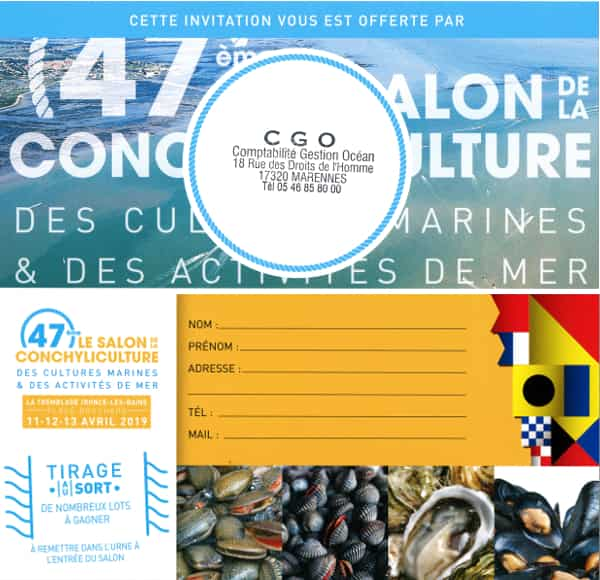 Salon conchylicole de La Tremblade - Invitations CGO
